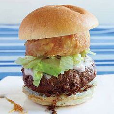 #30DaysOfBurgers, Day 23: Big Beef Burgers with Crunchy Sour Cream Onions