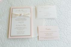 Pink and Gold Wedding Stationery