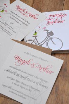 Le Vélo - Faire-part Mariage, à découvrir sur Les-Libellules.fr