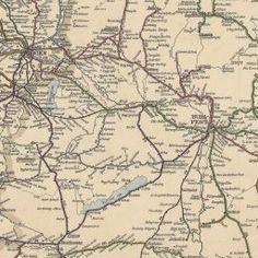 Artaria Railway & Postal Communications Map of Austria-Hungary 1887 // Gesher Galicia Map Room