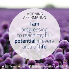 """Affirmation: """"I am progressing to reach my full potential in every area of life"""" #affirmation #affirmations #morningaffirmation #morningaffirmations #positiveaffirmations #positive #joytrain #successtrain #happiness #motivation #motivational"""