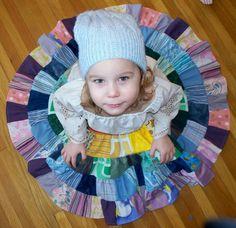 patchwork rainbow twirl skirt