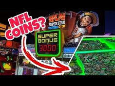 NEW NFL FOOTBALL COIN PUSHER ARCADE GAME!! ArcadeJackpotPro Nfl Football, Arcade Games, Superstar, Coins, Channel, Shit Happens, Diy, Rooms, Bricolage