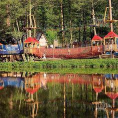 Kudy z nudy - Davidův mlýn v Kružberku - ubytování, rybaření i lanové centrum Park, Fun, Travel, Painting, Bohemia, Viajes, Painting Art, Parks, Paintings