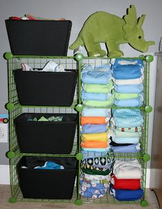 cloth diaper storage :: desperately need some new cloth storage solutions. running out of room!
