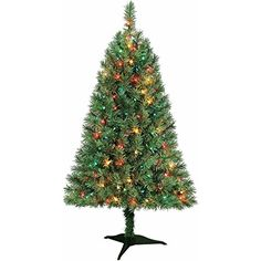 Green 4 Ft Indiana Spruce Artificial Tree >>> Click image to review more details.