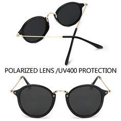 e40aeefbda0 Amazon.com  Round Retro Polarized Sunglasses Driving Shopping Glasses  Steampunk Frame
