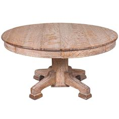 Limed Oak Circular Dining Table 1