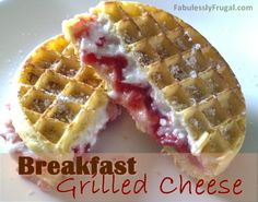 http://fabulesslyfrugal.com/?p=204310  Freezer Meal:  Breakfast Grilled Cheese...fast, easy and uses frozen waffles!