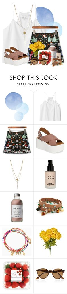 """""""What kind of backpack did you get??"""" by flroasburn ❤ liked on Polyvore featuring Monki, Steve Madden, Bobbi Brown Cosmetics, French Girl, Tory Burch, Stella & Dot, Ray-Ban and Kendra Scott"""
