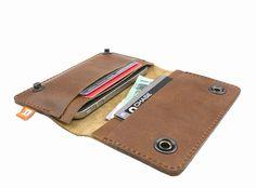 iPhone 4 4S Wallet Case Cambie Medium Tan/Brown cork by Adimaa