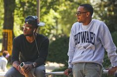 hanging on the Yard University Style, Howard University, University Fashion, African American Culture, Winter Gear, Alma Mater, Mens Fall, Good Looking Men, College Life