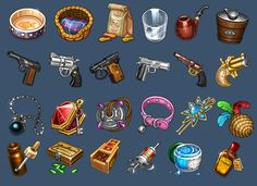 Icons for game by *Kifir on deviantART