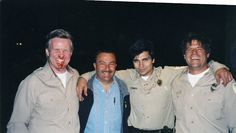 """Hanging on the set of """"Unspeakable"""" with the Sante Fe Prison Warden and cast"""
