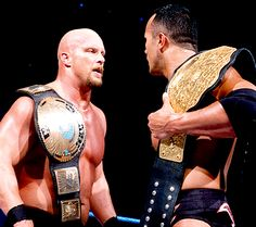 "Wrestling Champs"" Stone Cold Steve Austin & The Rock."