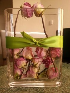 Dried roses reused for decorations