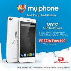 MyPhone MY31 FREE at Globe Plan P599, exclusively available at AllPhones