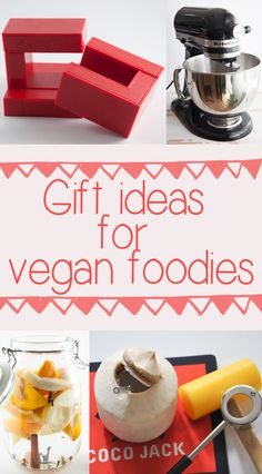 The holidays are approaching and it's the perfect time to think about presents. Check out these awesome Gift Ideas for Vegan Foodies! Vegan Gifts, Thoughtful Gifts, Cool Kitchens, Vegan Vegetarian, Free Food, Best Gifts, Gift Ideas, Foodies, Holiday