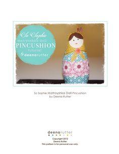 So Sophie Matroyshka Doll Pincushion ... SO CUTE!