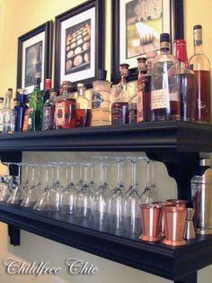 Makeshift bar.