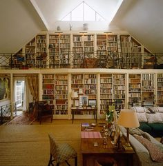 Interior, Home Library Shelves Home Library: Cool Creative Home Library Shelves Organization Ideas Library Shelves, Library Wall, Dream Library, Bookshelf Wall, Future Library, Attic Library, Beautiful Library, Mini Library, Vintage Library