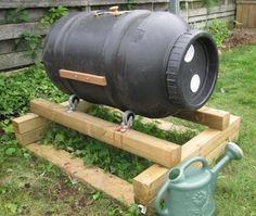 Make a low, heat-retaining DIY compost tumbler