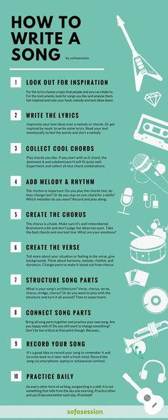 New music instruments guitar songs ideas Singing Lessons, Singing Tips, Music Lessons, Guitar Lessons, Learn Singing, Piano Lessons, Art Lessons, Writing Lyrics, Music Writing