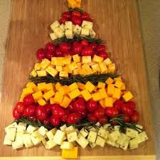 christmas cheese platter to look like a christmas tree - Google Search