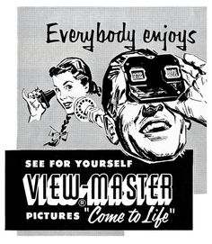 View-master 1954 -- I had one of these as a kid and loved it. All American slides. Disneyland, Yosemite National Park, 3D almost in definition!