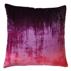 kevin o'brien ombre velvet pillow in raspberry