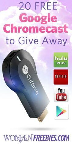 20 Free Google Chromecast To Giveaway