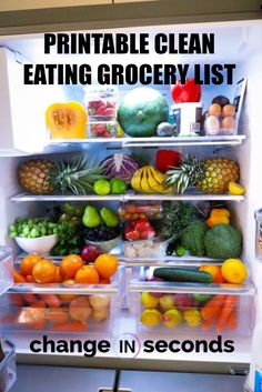 cleaneatingforbeginners cleaneatinggrocerylist grocerylistprintable cleaneatingmealplan mealprepcleaneating cleaneating printable grocery eating clean list Printable Clean Eating Grocery ListYou can find Clean eating diet and more on our website Clean Eating Grocery List, Clean Eating Recipes For Dinner, Clean Eating Meal Plan, Eating Plans, Clean Eating Snacks, Healthy Eating, Eating Habits, Eating Fast, Clean Foods