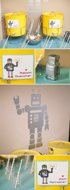 Robot Themed Surprise Baby Shower