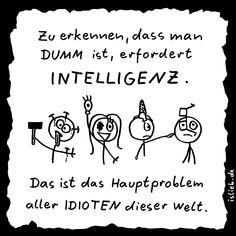 Die Wahrheit über Dummheit (Strichmännchen-Cartoon) - islieb.de | Sprüche, Idioten, Intelligenz, Humor, #islieb
