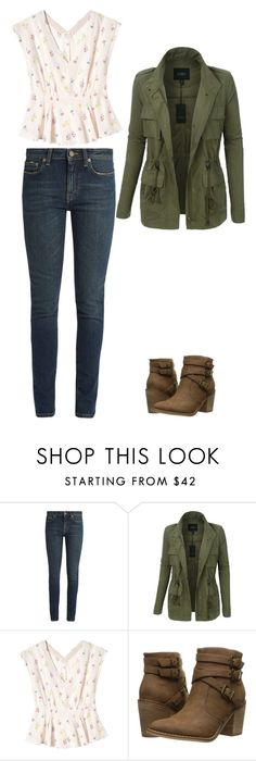 """Untitled #104"" by hannahchristine18 on Polyvore featuring Yves Saint Laurent, LE3NO, Rebecca Taylor and Rocket Dog"