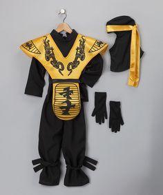 Black Deluxe Ninja Dress-Up Set - Kids