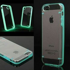 Cool iPhone case! :) Glow in the Dark- Light Blue- iPhone 5/5s *Technology*