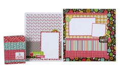 Layout ideas using the American Crafts: Fresh Squeezed line. Click through image for more layout ideas.