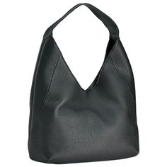 Black Sasha Hobo | Pebble Grain Leather | GiGi New York