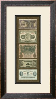 Something cool to do with all of my leftover cash from India/UAE besides trying to shove it into parking meters and vending machines back home in Iowa. Foreign Currency Panel I Framed Art Print