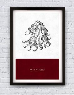 "Game of Thrones - House Lannister print 11X17"". $20.00, via Etsy."
