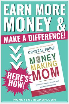 Learn from finance and family blogger, Crystal Paine, on her wisdom and failures when she started her business. Plus you'll learn practical tips on how she carved the path to her and her family's financial freedom. #makemoney #makemoneyfromhome Work From Home Moms, Make Money From Home, How To Make Money, Money Saving Mom, Make Money Blogging, How To Move Forward, Money Cant Buy Happiness, Earn More Money, Budgeting Money