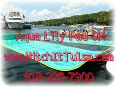 Aqua Lily Pad, Floating Water Mat, lake ocean Tulsa Trailer Parts Shop, Tulsa Trailer Sales Hitch It Trailer Sales, Trailer Parts, Service & Truck Accessories 5866 S. 107th E. AVE TULSA, OKLAHOMA 74146 918-286-7900 www.HitchItTulsa.com  Business Hours: Monday-Friday 8:00 - 5:30 (WE DO NOT CLOSE FOR LUNCH)  We specialize in Trailer Sales, Trailer parts, Trailer service/repairs & Truck accessories. We sell Haulmark & Lark Enclosed Cargo Trailers, Tiger, BIG TEX & Rice Utility, Tilt, Dump…