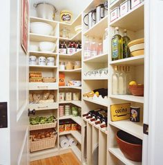 The merits of open shelving in the kitchen are always a point of contention around here