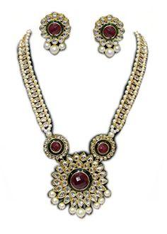 Zaveri Pearls Designer Haram Pearl Necklace Set For Women -Zpfk232
