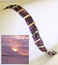 Hawaii Sunset Tila Bead Bracelet