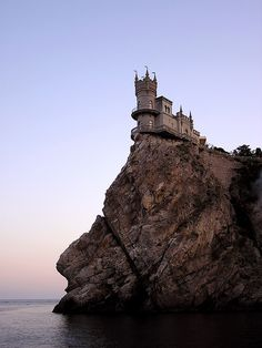 Swallow's Nest Castle in Ukraine.