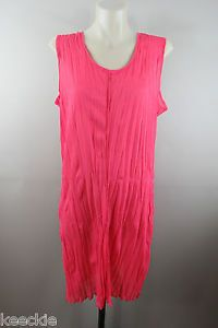 Size 16 XL Ladies Pink Sheer Mesh Tunic Top Chic Layer Casual Sleeveless Style  | eBay