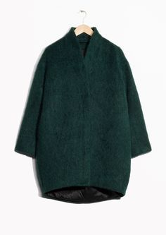 & Other Stories image 1 of Wool-Blend Coat in Green Dark