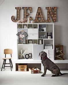 DIY: świecące litery